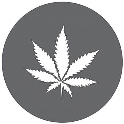 The Hemp Garden Leaf Only Grey Logo